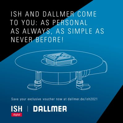 "Dallmer's innovations at the ISH digital ""As personal as ever and simpler than ever before"""