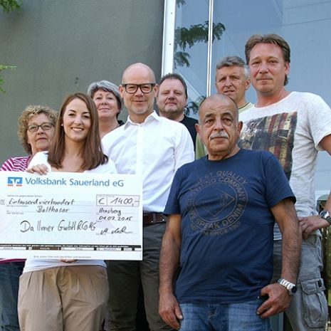 Dallmer workforce makes donation to the Balthasar Children and Young Adults' Hospice