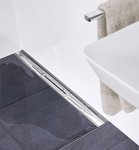 CeraWall Pure shower channel