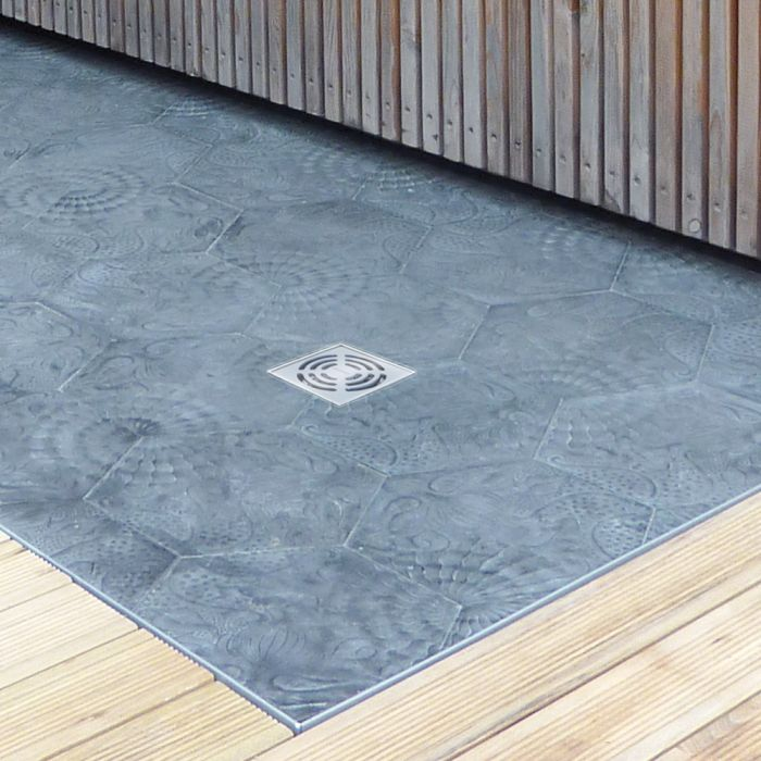 Floor drains for outdoor use: