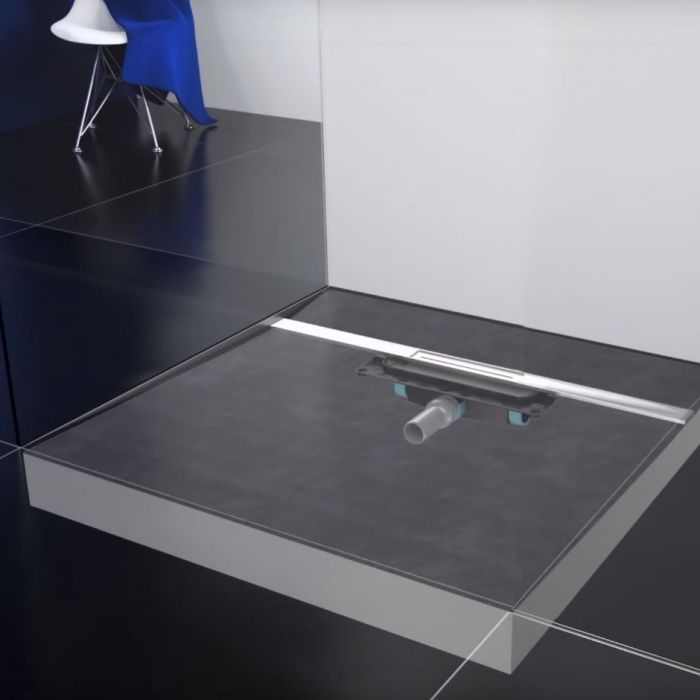 Shower underlays for level-access showers